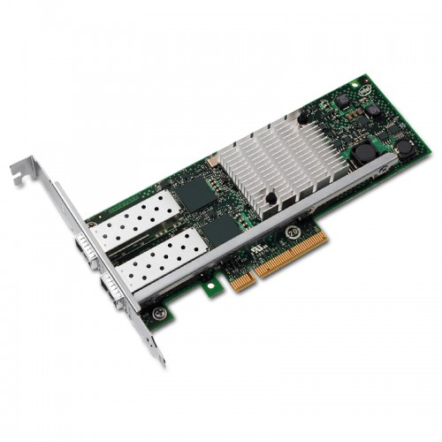 New Intel E10G42AFDA, Intel 10 Gigabit AF DA Dual Port Server Adapter, 10 GbE, Dual Port, SFP+ Direct Attached Cable
