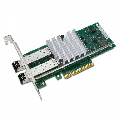 New Intel E10G42BFSR, Intel Ethernet Converged Network Adapter X520-SR2, Intel 82599ES Controller, 10 GbE, Dual Port, LC MMF