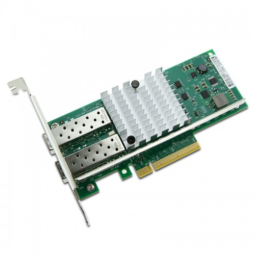 New Intel E10G42BTDA, Intel Ethernet Converged Network Adapter X520-DA2, Intel 82599ES Controller, 10 GbE, Dual Port, SFP+ DAC