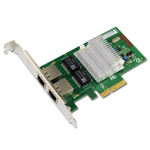 New Intel E1G42HT, Intel Ethernet Server Adapter I340-T2, Intel 82580 Controller, Gigabit Ethernet, Dual Port, RJ45 Copper