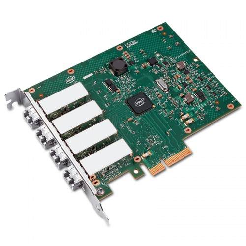 New Intel E1G44HF, Intel Ethernet Server Adapter I340-F4, Intel 82580 Controller, Gigabit Ethernet, Quad Port, LC MMF