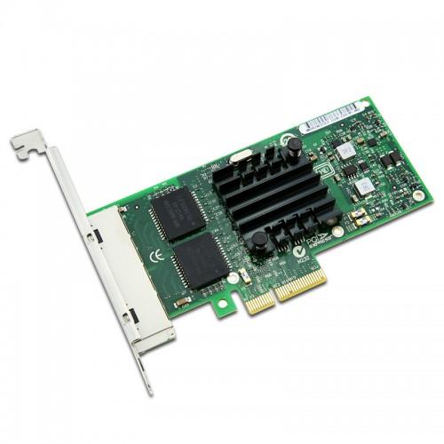 New Intel E1G44HT, Intel Ethernet Server Adapter I340-T4, Intel 82580 Controller, Gigabit Ethernet, Quad Port, RJ45 Copper