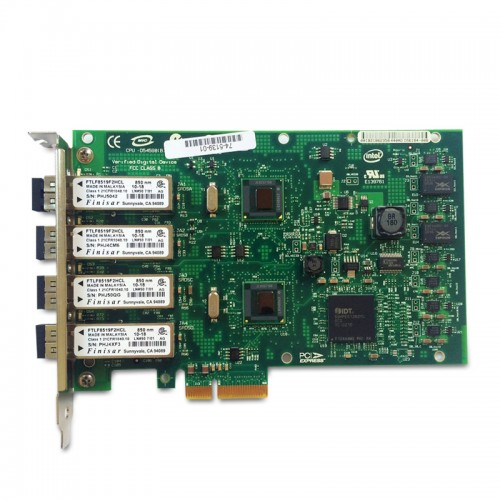 New Intel EXPI9404PF, Intel PRO/1000 PF Quad Port Server Adapter, LC, 1000BASE-SX multimode, PCIe, 82571GB