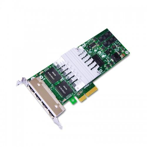 New Intel EXPI9404PTL, Intel PRO/1000 PT Low Profile Quad Port Server Adapter, RJ45, 10/100/1000, PCIe, 82571GB