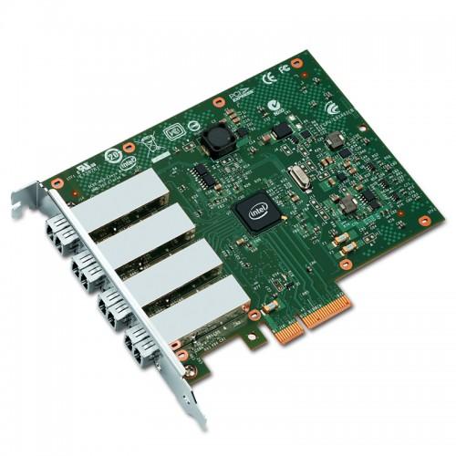 New Intel I350F4, Intel Ethernet Server Adapter I350-F4, Intel I350 Controller, Gigabit Ethernet, Quad Port, LC MMF