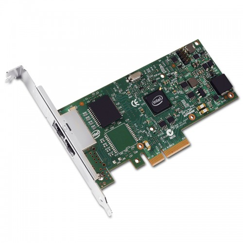 New Intel I350T2V2, Intel Ethernet Server Adapter I350-T2, Intel I350 Controller, Gigabit Ethernet, Dual Port, RJ45 Copper