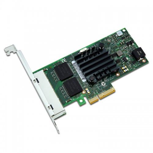 New Intel I350T4, Intel Ethernet Server Adapter I350-T4, Intel I350 Controller, Gigabit Ethernet, Quad Port, RJ45 Copper