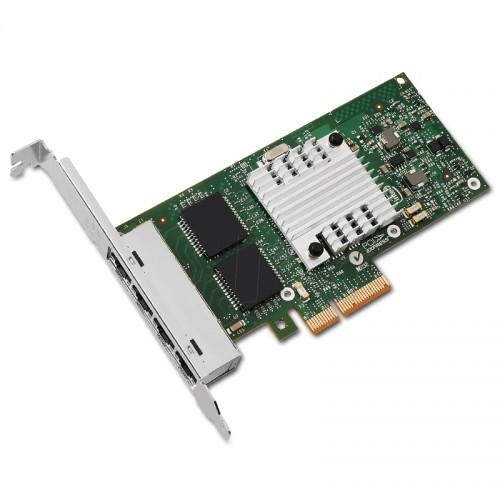 New Intel I350T4V2, Intel Ethernet Server Adapter I350-T4, Intel I350 Controller, Gigabit Ethernet, Quad Port, RJ45 Copper