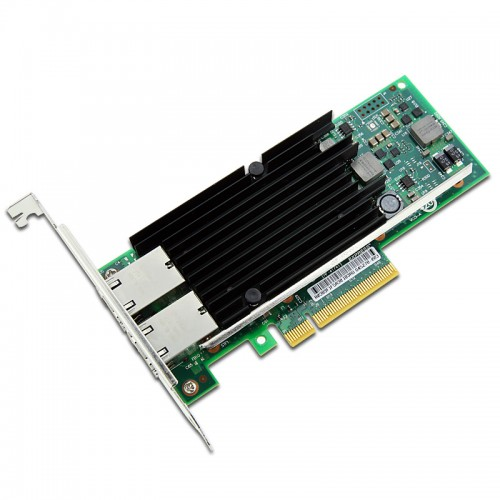 New Intel X540T2, Intel Ethernet Converged Network Adapter X540-T2, Intel X540 Controller, 10 GbE, Dual Port, RJ45 Copper