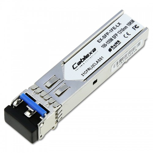 Juniper Compatible EX-SFP-1FE-LX, SFP 100BASE-LX, LC connector, 1310nm, 10km reach on single-mode fiber