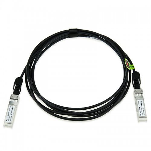 Juniper Compatible QFX-SFP-DAC-3M, SFP+ 10-Gigabit Ethernet DAC cable assembly, 30 AWG, passive 3 m