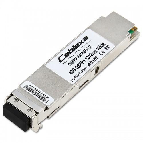 Juniper Compatible QSFPP-4X10GE-LR, 4x10GBASE LR4 QSFP+ Module, 12-fiber Femal MPO/APC, 1310nm Singlemode, 10km
