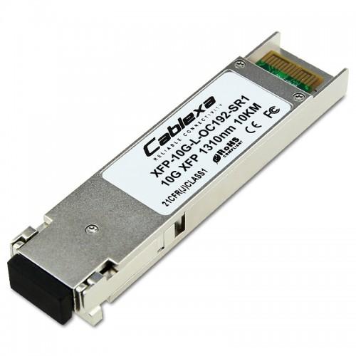 Juniper Compatible XFP-10G-L-OC192-SR1, OC-192 XFP, 1290 nm through 1330 nm, 10km reach, single-mode