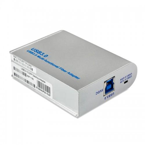 USB3.0 Gigabit Ethernet Fiber Network Interface Card, Realtek RTL8153-CG Chipset 1000Base-LX SM Fiber NIC, Single SC Port