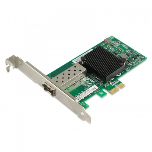 PCIe Gigabit Ethernet Fiber Network Interface Card, PCI Express x1 Intel 82575EB Chipset 1000Base-X Fiber NIC, Single GE SFP Port