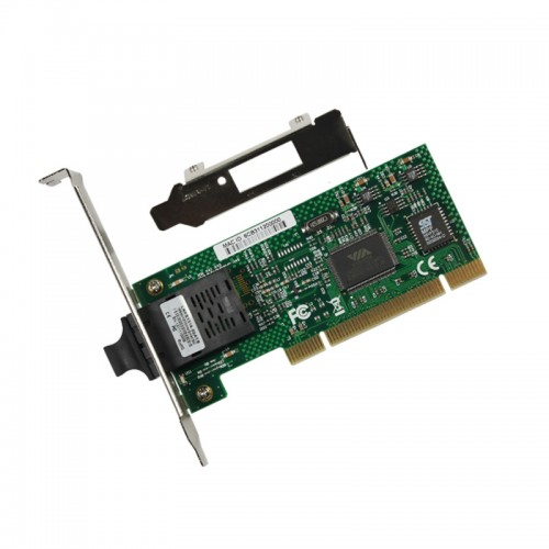 PCI Fast Ethernet 100Base-FX Fiber Network Interface Card, VIA VT6105M Chipset Fiber NIC, Single SC Port, MMF
