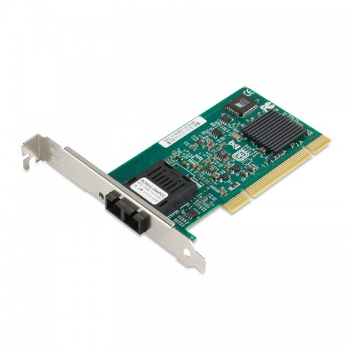 PCI Gigabit Ethernet Fiber Network Interface Card, Intel 82545EB Chipset 1000Base-LX SM Fiber NIC, Single SC Port