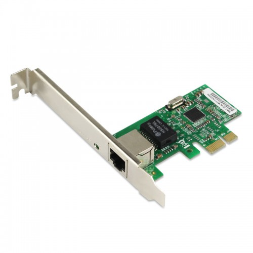 PCIe Gigabit Ethernet Single RJ45 Port Network Interface Card, PCI Express x1 Intel I211 Chipset Desktop Network Adapter