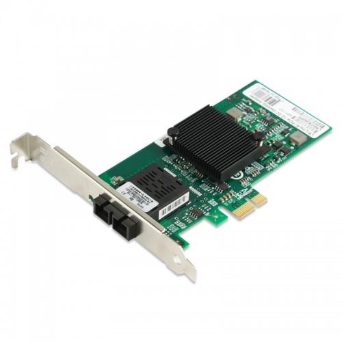 PCIe Gigabit Ethernet Fiber Network Interface Card, PCI Express x1 Intel 82576 Chipset 1000Base-LX SM Fiber NIC, Single SC Port