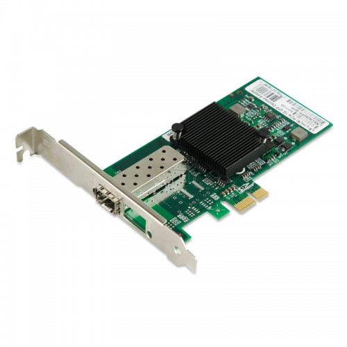 PCIe Gigabit Ethernet Fiber Network Interface Card, PCI Express x1 Intel 82576 Chipset 1000Base-X Fiber NIC, Single GE SFP Port