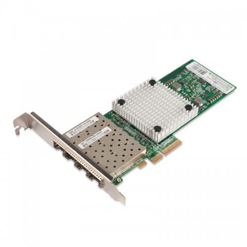 PCIe x4 Gigabit Ethernet Fiber NIC, Intel 82580 Chipset 1000Base-X Server Network Adapter, Quad GE SFP Port