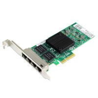 PCIe Gigabit Ethernet Quad RJ45 Port Network Interface Card, PCI Express x4 Intel 82580 Chipset Server Network Adapter