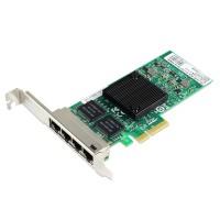 PCIe Gigabit Ethernet Quad RJ45 Port Network Interface Card, PCI Express x4 Intel 82580 Chipset Server Network Adapter