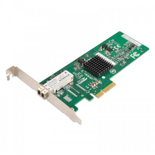 PCIe x4 Gigabit Ethernet Fiber NIC, Broadcom 5708 Chipset 1000Base-SX MM Server Network Adapter, Single LC Port
