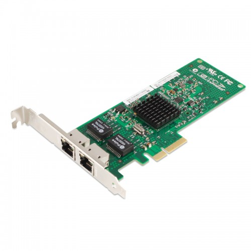 PCIe Gigabit Ethernet Dual RJ45 Port Network Interface Card, PCI Express x4 Broadcom 5709C Chipset Server Network Adapter