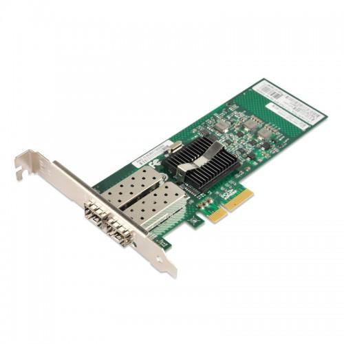 PCIe x4 Gigabit Ethernet Fiber NIC, Intel 82575 Chipset 1000Base-X Server Network Adapter, Dual GE SFP Port