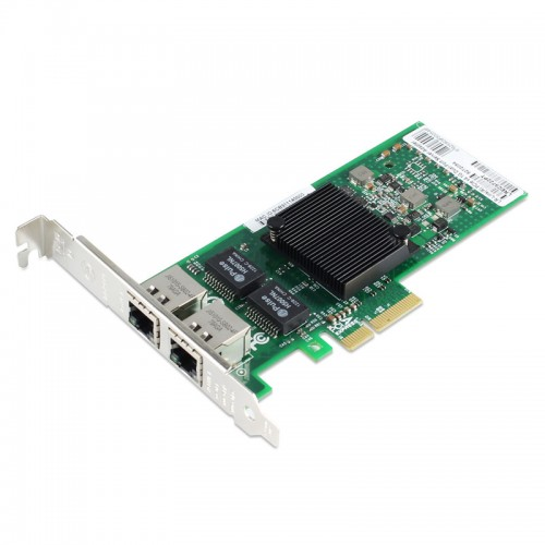 PCIe Gigabit Ethernet Dual RJ45 Port Network Interface Card, PCI Express x4 Intel 82575 Chipset Server Network Adapter