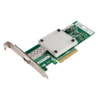 PCIe x8 10G Ethernet Fiber NIC, Intel 82599 Chipset 10GBase-SR/LR Server Network Adapter, Single SFP+ Port