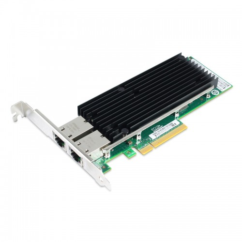PCIe 10 Gigabit Ethernet Dual RJ45 Port Network Interface Card, PCI Express x8 Intel X540 Chipset Server Network Adapter