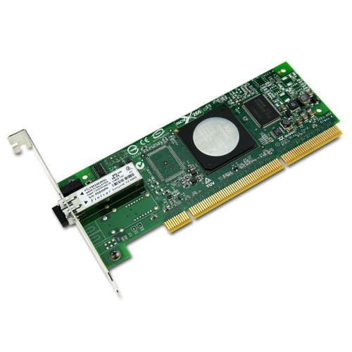 New Original QLogic 4Gbps single-port Fibre Channel to PCI-X 2.0 266 MHz adapter, multi-mode optic.