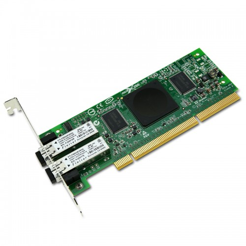 New Original QLogic 4Gbps dual-port Fibre Channel to PCI-X 2.0 266 MHz adapter, multi-mode optic.