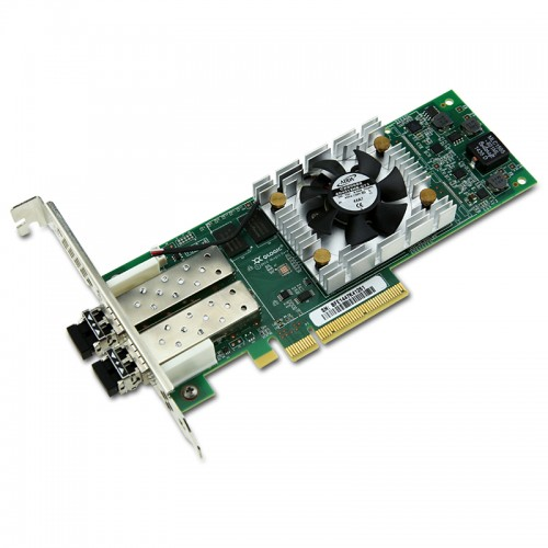 New Original QLogic 16Gbps Dual-Port Fibre Channel Host Bus Adapter, PCIe Gen3 x4, SR LC Multi-Mode Optic