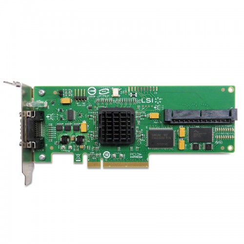 LSI SAS 3442E-R PCI Express, 3 Gb/s, SAS, 4-port int and 4-port ext Host Bus Adapter