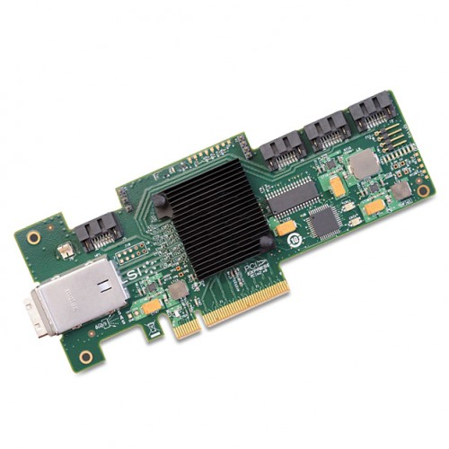 LSI SAS 9212-4i4e 4-port int and 4-port ext 6Gb/s SAS+SATA to PCI Express Host Bus Adapter