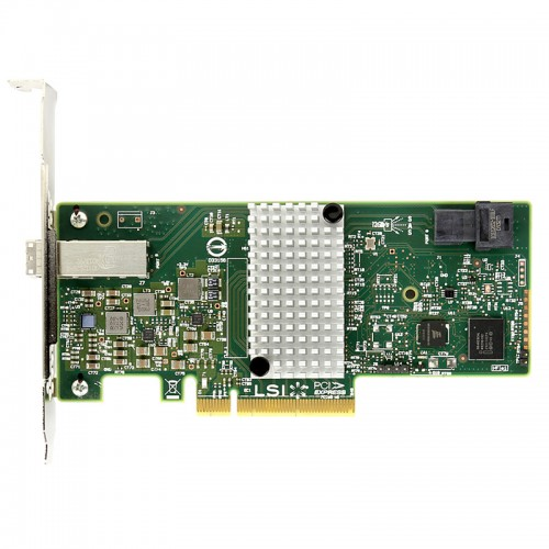 LSI SAS 9300-4i4e PCI Express to 4-port int and 4-port ext 12Gb/s SAS+SATA Host Bus Adapter, H5-25515-00