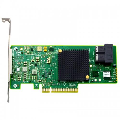 LSI SAS 9300-8i PCI Express to 8-port internal 12Gb/s SAS+SATA Host Bus Adapter