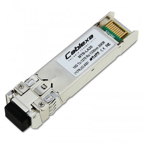 Planet Compatible MTB-LA20, SFP-Port 10GBase-BX Transceiver (WDM,TX:1270nm RX:1330nm) -20km
