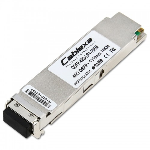 Cablexa QSFP+, 40Gb/s, 40GBASE-LR4, SMF, 1310nm Band, Duplex LC, 10KM Transceiver Module
