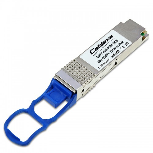Cablexa QSFP+, 40Gb/s, 40GBASE-IR4 PSM, SMF, 1310nm Band, 12-fiber MPO, 2KM Transceiver Module