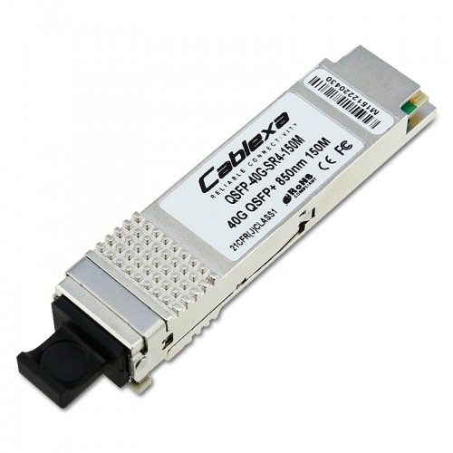 Cablexa QSFP+, 40Gb/s, 40GBASE-SR4, MMF, 850nm Band, 12-fiber MPO, 150M Transceiver Module