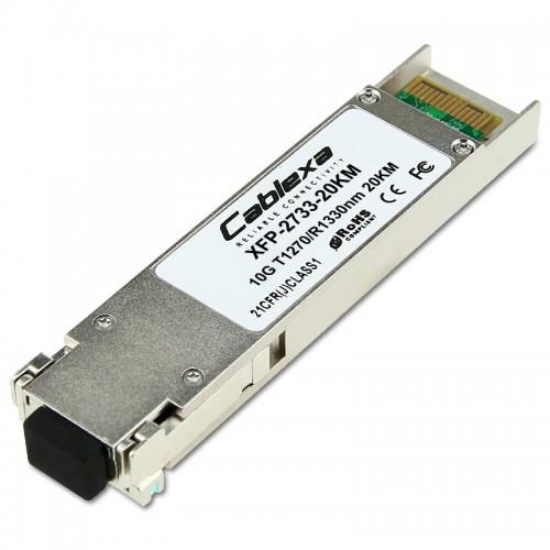 Cablexa XFP, 10Gb/s, BiDi, 10GBase-LR, SMF, Tx1270nm/Rx1330nm, Simplex LC, 20KM Transceiver Module