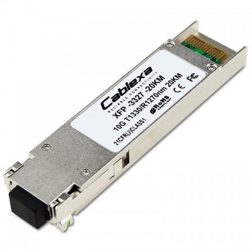 Cablexa XFP, 10Gb/s, BiDi, 10GBase-LR, SMF, Tx1330nm/Rx1270nm, Simplex LC, 20KM Transceiver Module