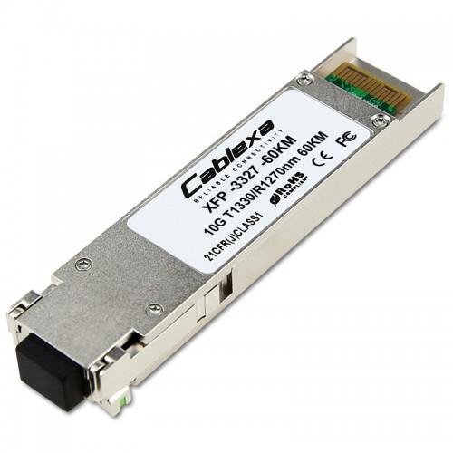 Cablexa XFP, 10Gb/s, BiDi, 10GBase-LR, SMF, Tx1330nm/Rx1270nm, Simplex LC, 60KM Transceiver Module